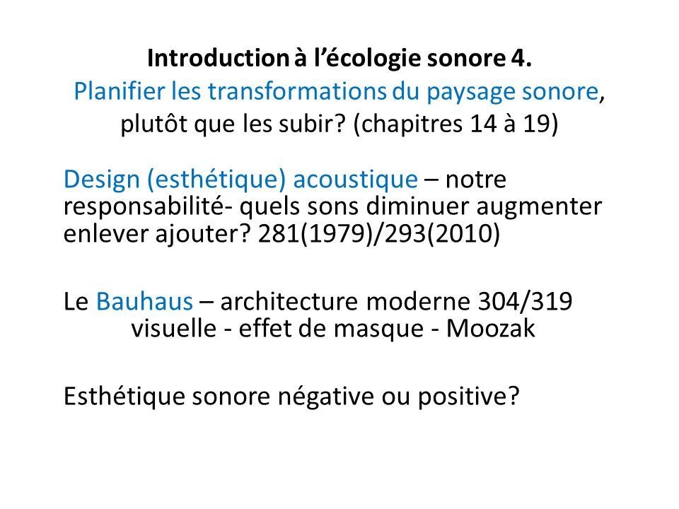 Introduction à lécologie sonore 4.