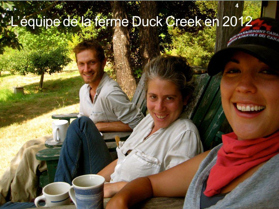 Léquipe de la ferme Duck Creek en 2012 4