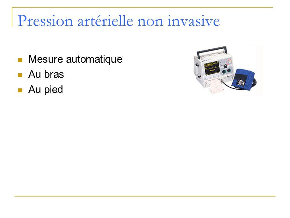 Pression artérielle non invasive Mesure automatique Au bras Au pied