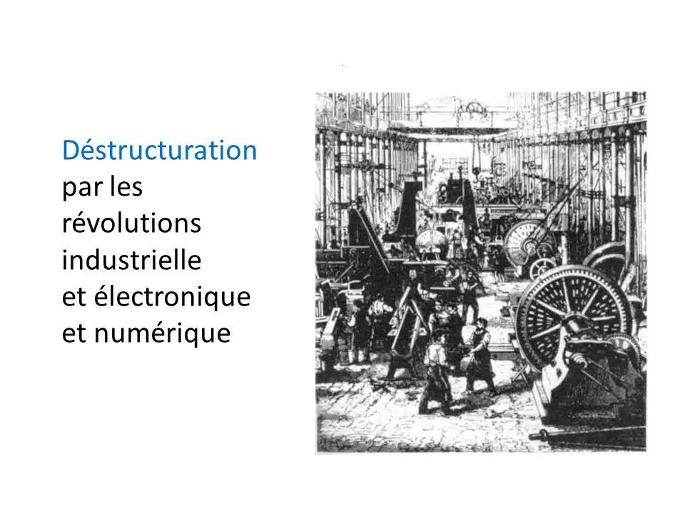 . Déstructuration par les révolutions industrielle et électronique et numérique