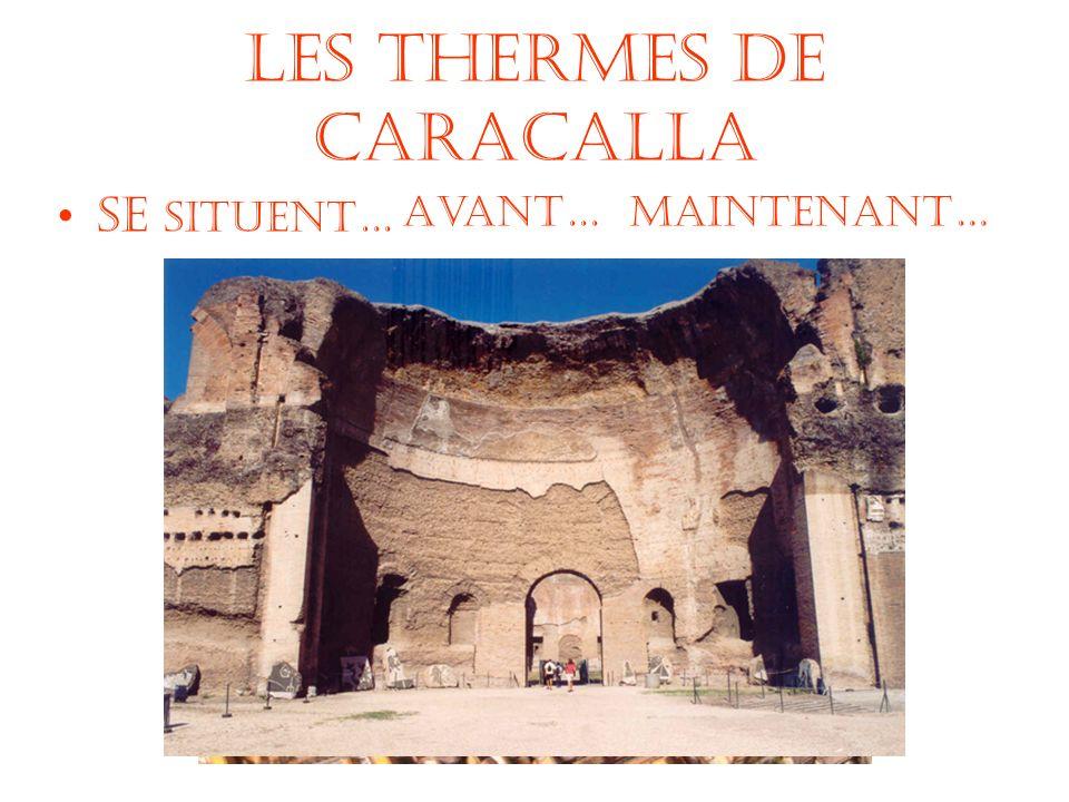 Les Thermes de Caracalla Se situent… Avant…Maintenant…