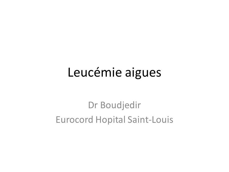 Leucémie aigues Dr Boudjedir Eurocord Hopital Saint-Louis