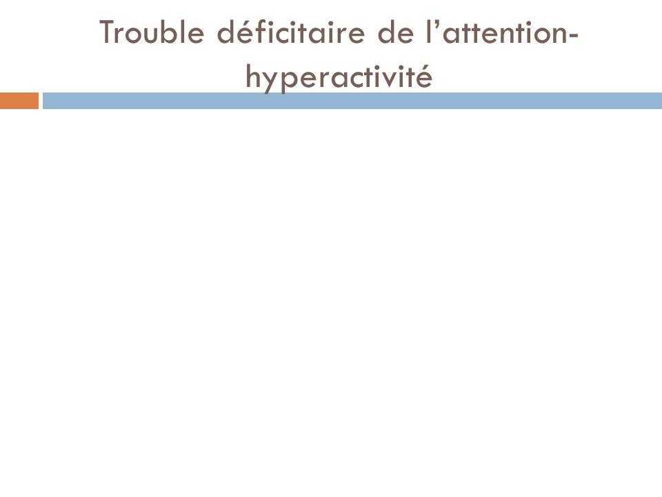 Trouble déficitaire de lattention- hyperactivité