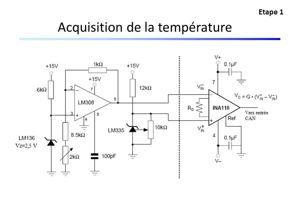 Acquisition de la température Etape 1