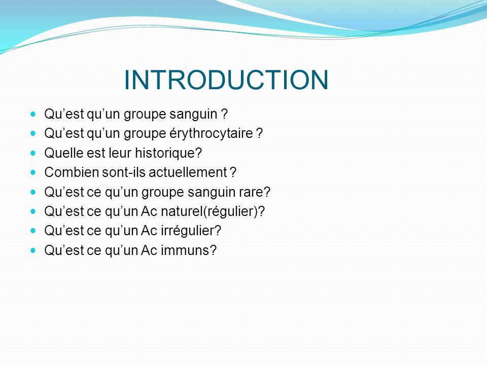 Le système ABO 1 Le groupe Cest le plus fréquent dans la population Française, suivi des groupes O, B, et AB Le gène codant pour lAg A est dexpression codominante et ainsi le sujet de phénotype A peut être de génotype AA ou AO et il possède des Ac naturels anti B.