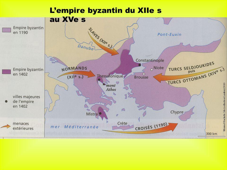Lempire byzantin du XIIe s au XVe s Manuel Hachette 2de (collection Lambin) 2010