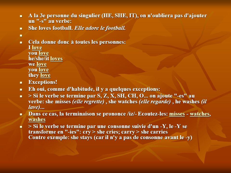 2) Ils sont donc toujours suivis d un verbe conjugué au singulier, même si en français ce n est pas le cas: My luggage is heavy = Mes bagages sont lourds 2) Ils sont donc toujours suivis d un verbe conjugué au singulier, même si en français ce n est pas le cas: My luggage is heavy = Mes bagages sont lourds 3) On ne peut pas les faire précéder de A/AN ou d un chiffre (ONE, TWO...).