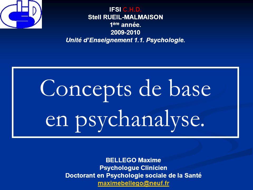 BELLEGO Maxime Psychologue Clinicien Doctorant en Psychologie sociale de la Santé maximebellego@neuf.fr IFSI C.H.D. Stell RUEIL-MALMAISON 1 ère année.