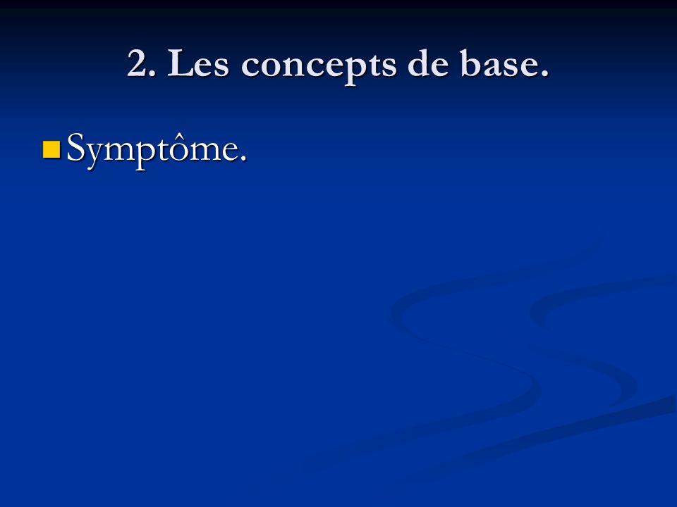 2. Les concepts de base. Symptôme. Symptôme.