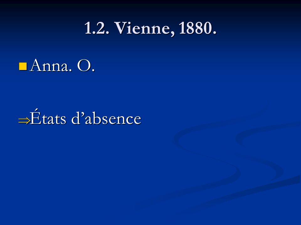 1.2. Vienne, 1880. Anna. O. Anna. O. États dabsence États dabsence