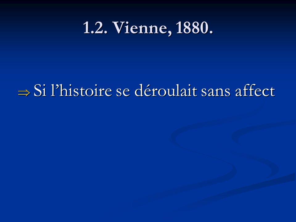 1.2. Vienne, 1880. Si lhistoire se déroulait sans affect Si lhistoire se déroulait sans affect