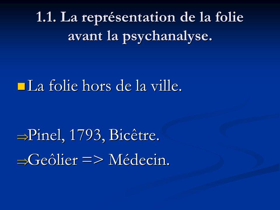1.1.La représentation de la folie avant la psychanalyse.