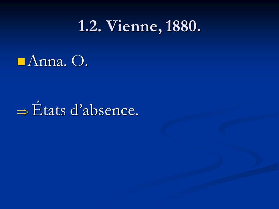 1.2. Vienne, 1880. Anna. O. Anna. O. États dabsence. États dabsence.