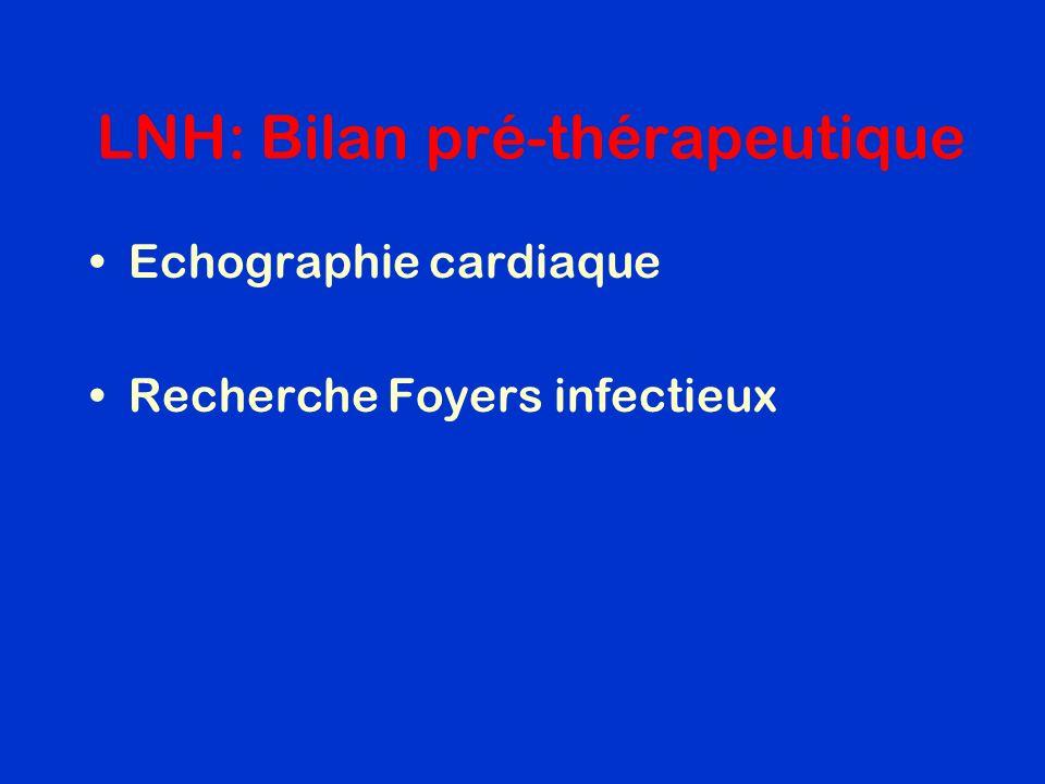 LNH: Bilan pré-thérapeutique Echographie cardiaque Recherche Foyers infectieux