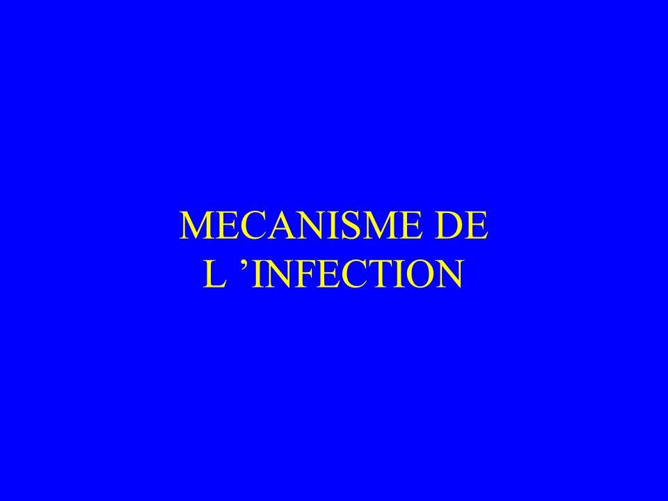 MECANISME DE L INFECTION