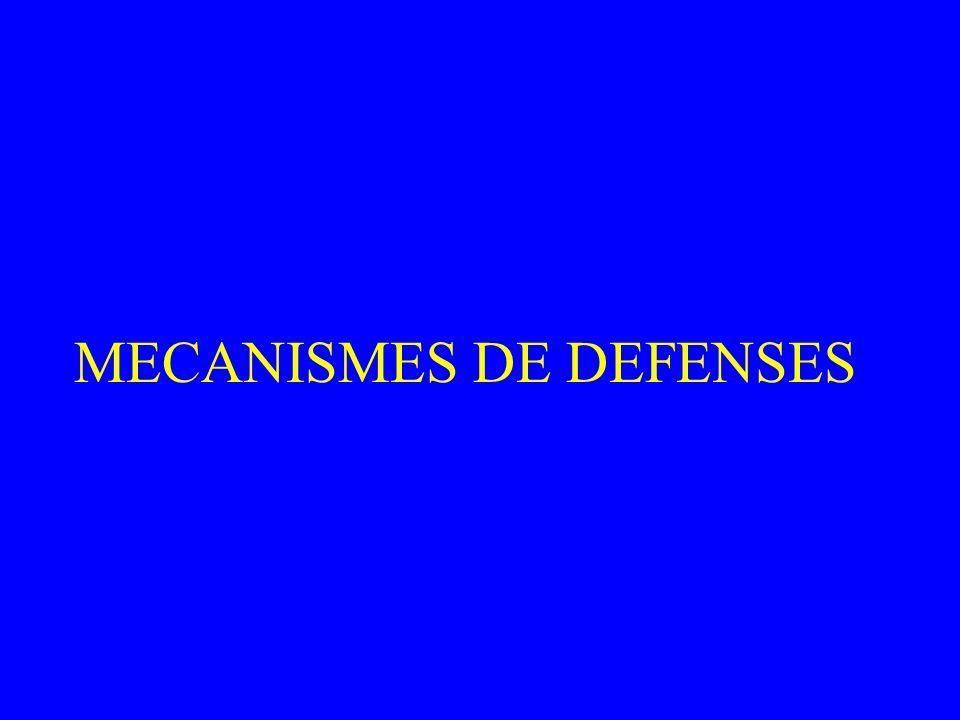 MECANISMES DE DEFENSES