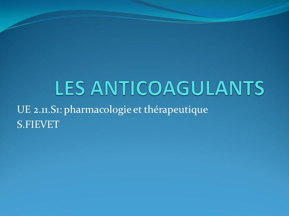 UE 2.11.S1: pharmacologie et thérapeutique S.FIEVET