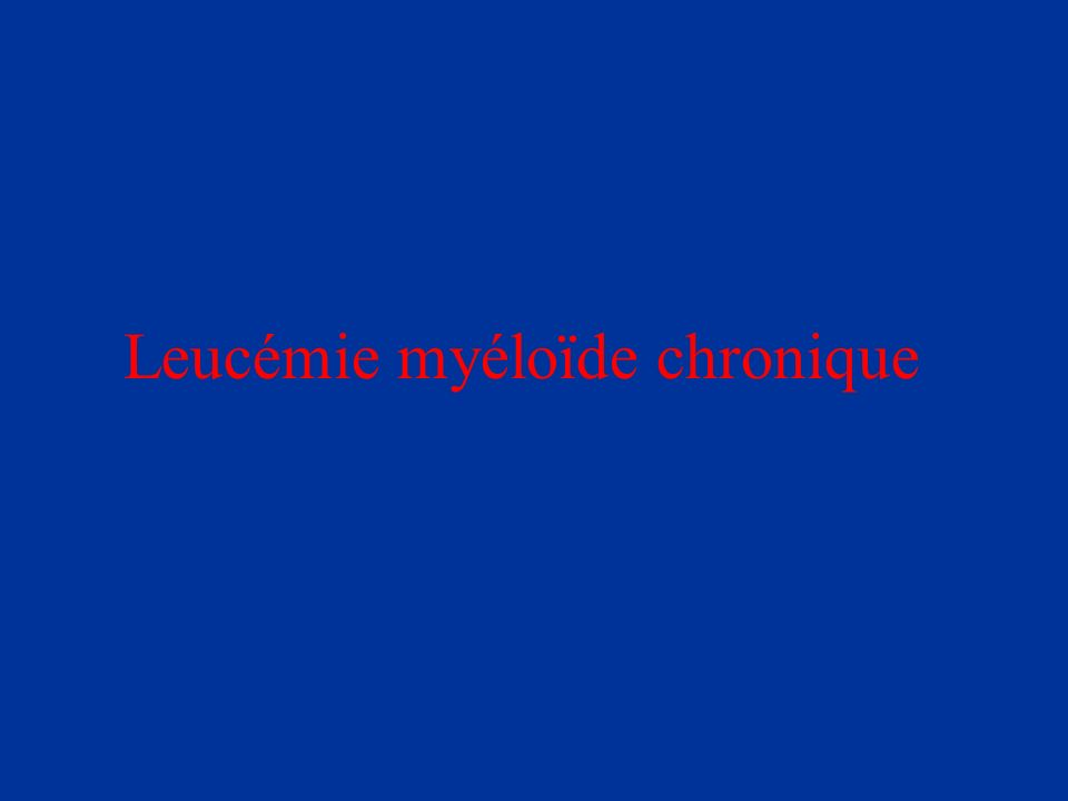 Inhibiteur spécifique de la Tyrosine Kinase du transcrit Bcr-abl Trt per os 400 mg à 800 mg/j en 2 prises Effets secondaires :prise de poids, œdèmes périorbitaires, myalgies, atteinte hépatiques….
