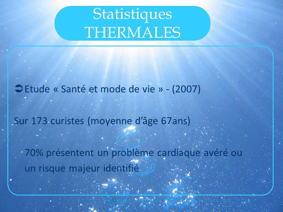 Statistiques THERMALES 2007: 742 curistes à l hôpital thermal.