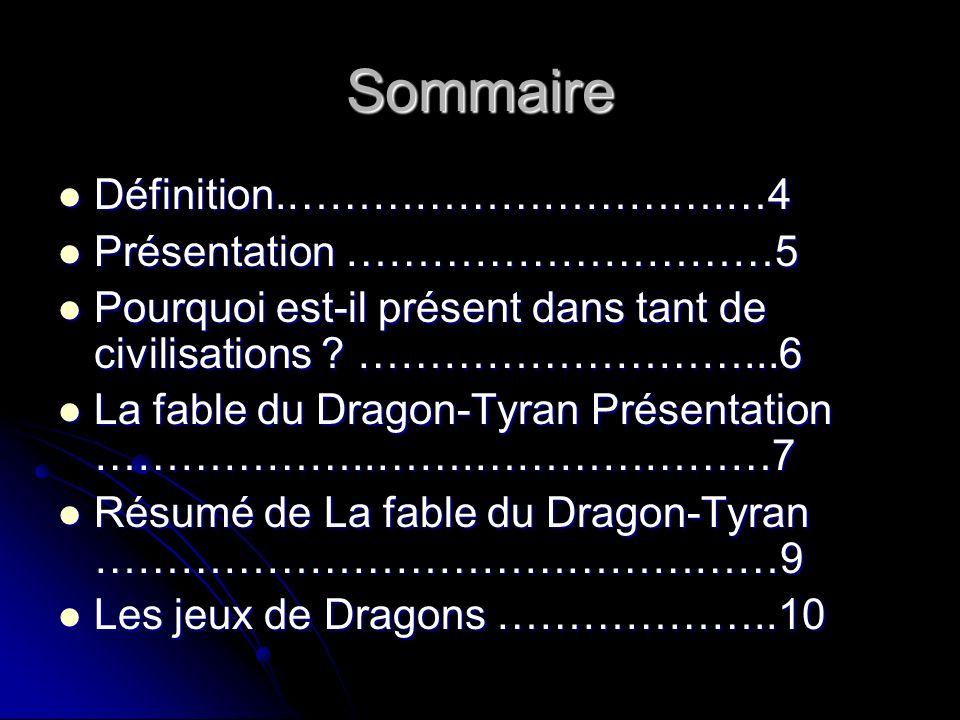 Sommaire 2 Dragons célèbres …………………..11 Dragons célèbres …………………..11 Dragon Film …………………………12 Dragon Film …………………………12 Un Dragon de métal ………………..13 Un Dragon de métal ………………..13 Chasseurs de dragons ……………..14 Chasseurs de dragons ……………..14