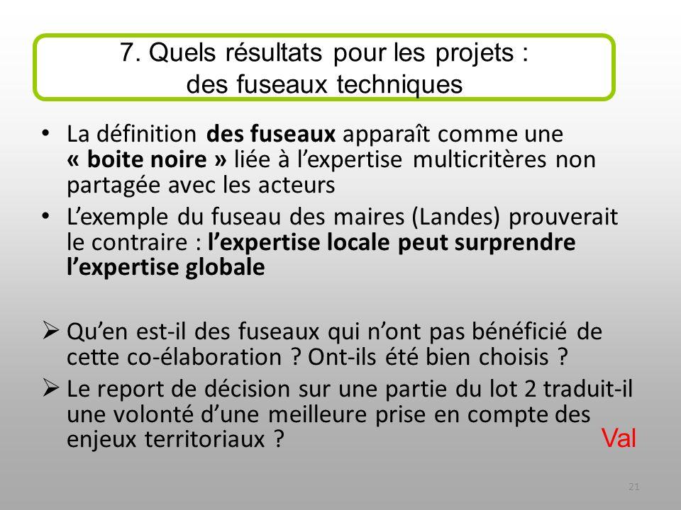 La définition des fuseaux apparaît comme une « boite noire » liée à lexpertise multicritères non partagée avec les acteurs Lexemple du fuseau des mair