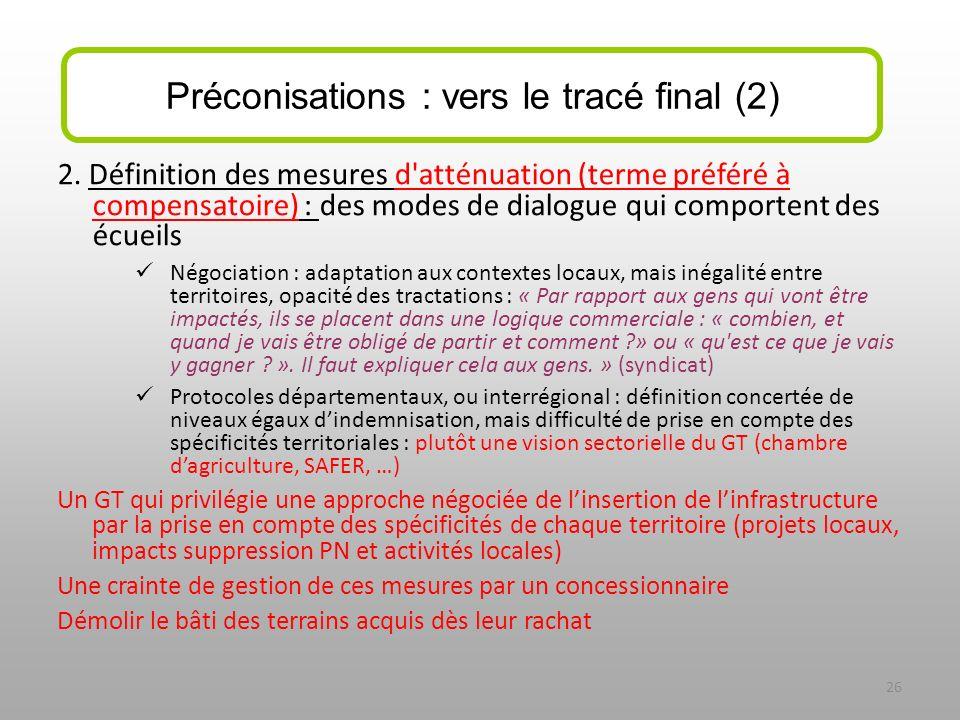 2. Définition des mesures d'atténuation (terme préféré à compensatoire) : des modes de dialogue qui comportent des écueils Négociation : adaptation au
