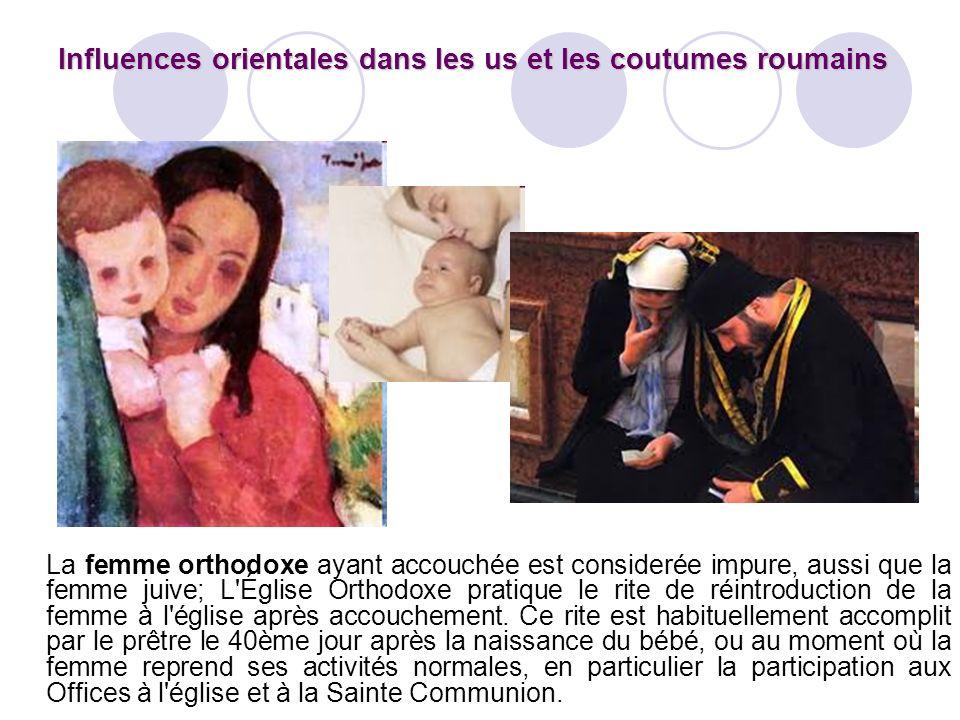 La femme orthodoxe ayant accouchée est considerée impure, aussi que la femme juive; L'Église Orthodoxe pratique le rite de réintroduction de la femme