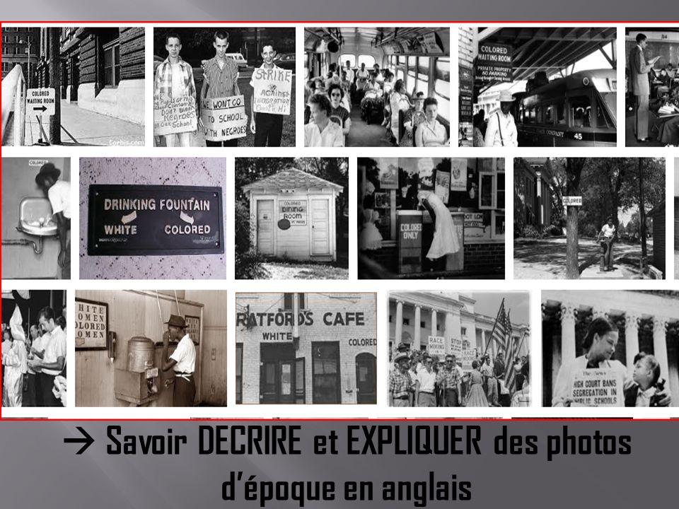 Savoir DECRIRE et EXPLIQUER des photos dépoque en anglais