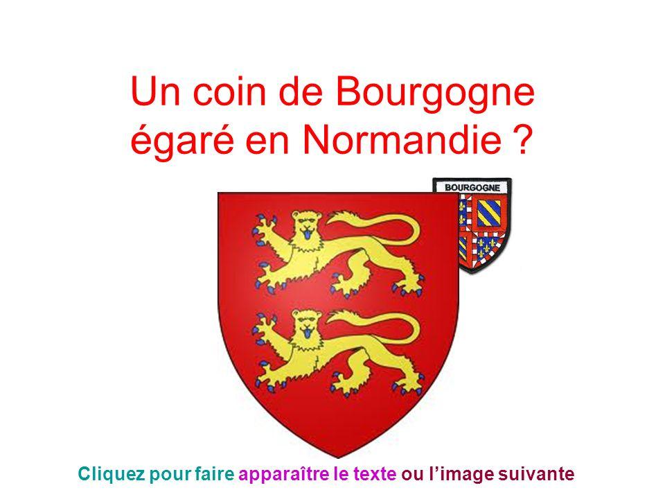 Un coin de Bourgogne égaré en Normandie ? Cliquez pour faire apparaître le texte ou limage suivante