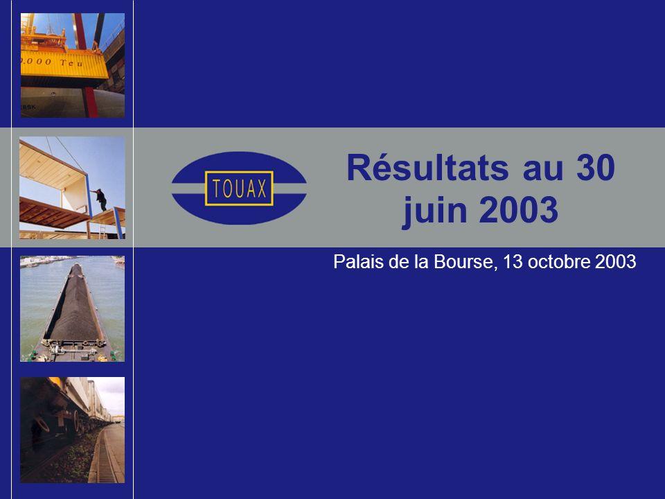 Résultats au 30 juin 2003 Palais de la Bourse, 13 octobre 2003