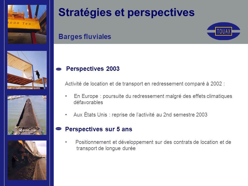 Activité de location et de transport en redressement comparé à 2002 : En Europe : poursuite du redressement malgré des effets climatiques défavorables