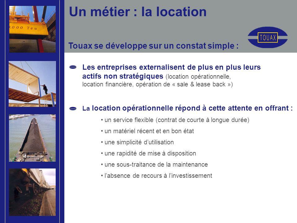 Touax se développe sur un constat simple : Les entreprises externalisent de plus en plus leurs actifs non stratégiques (location opérationnelle, locat