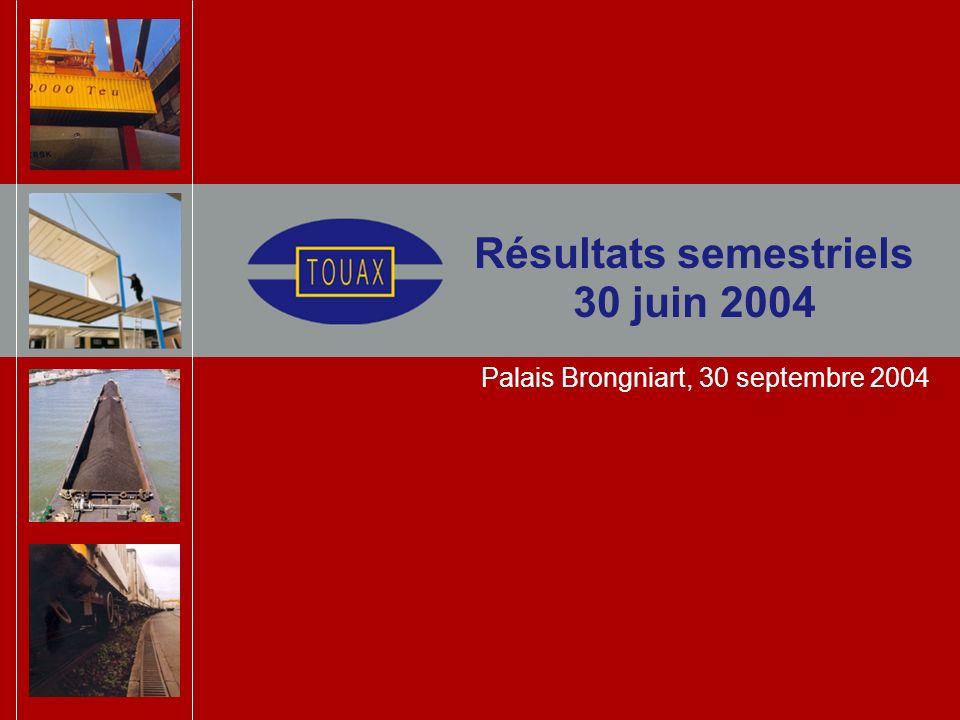 Sommaire Présentation de la société Faits marquants 1er semestre 2004 Résultats et stratégie de financement Perspectives 2004 et à 5 ans Touax et la Bourse