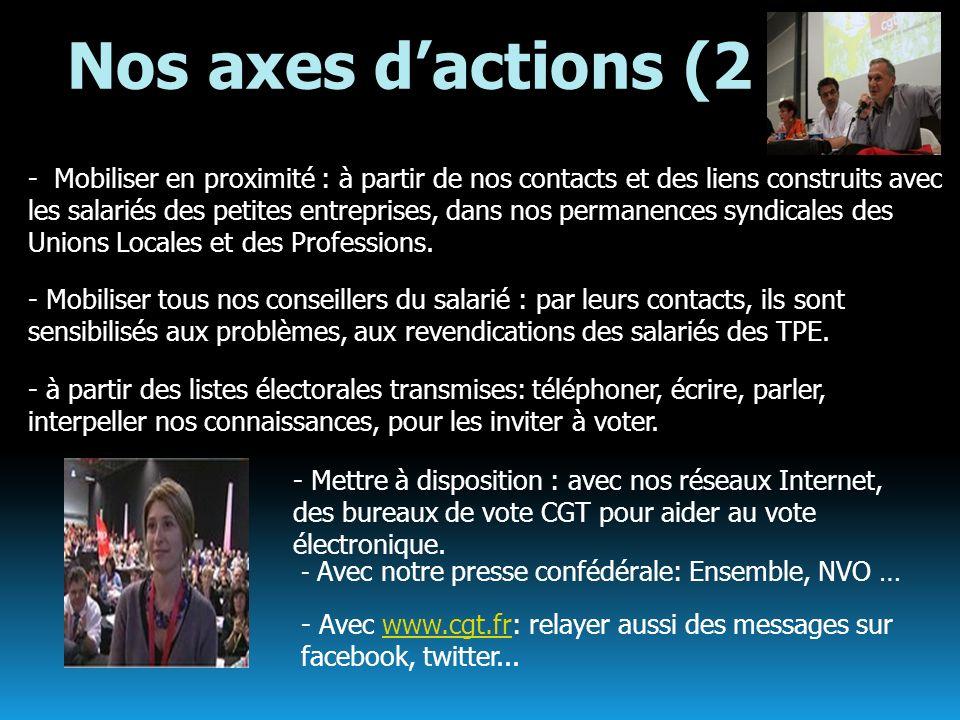 Nos axes dactions (2 - à partir des listes électorales transmises: téléphoner, écrire, parler, interpeller nos connaissances, pour les inviter à voter