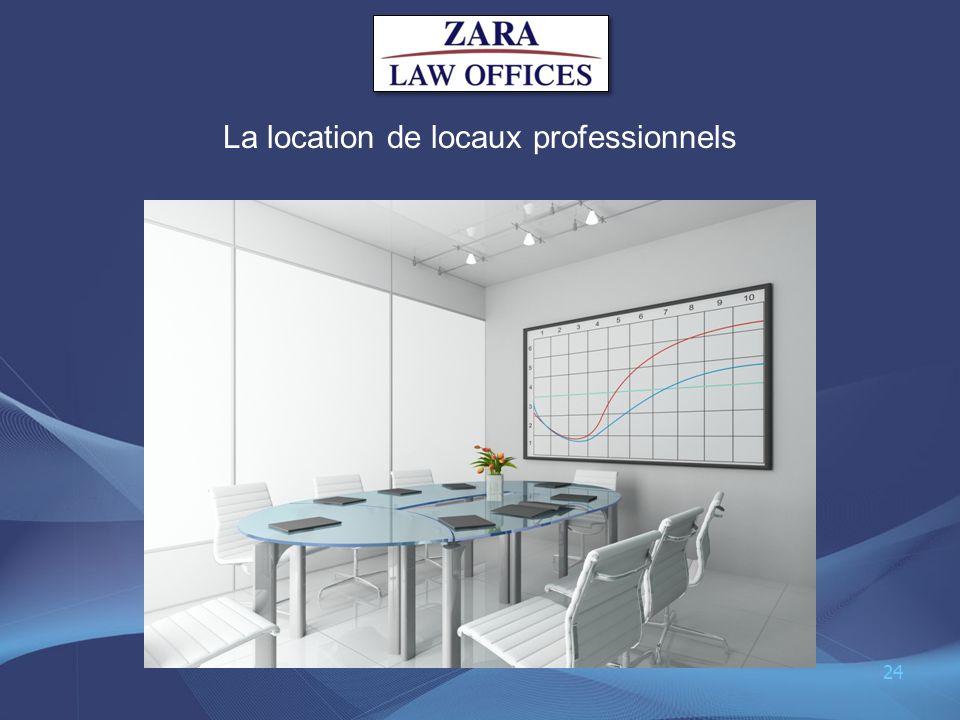 La location de locaux professionnels 24