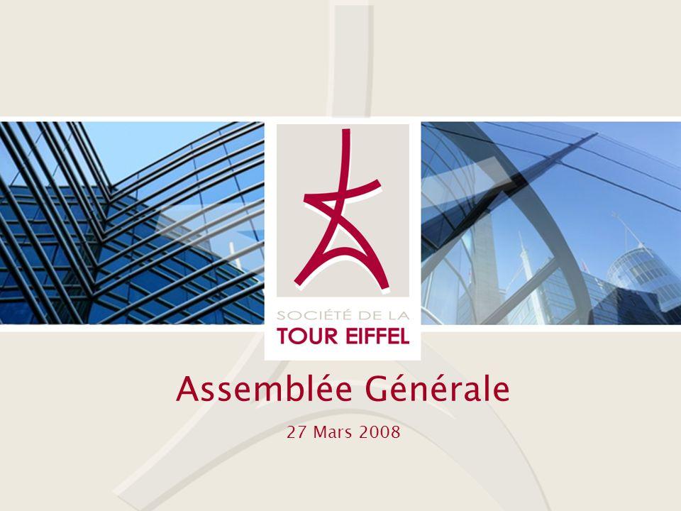 SOCIETE DE LA TOUR EIFFEL Assemblée Générale 27 Mars 2008 - 2 - Bienvenue….