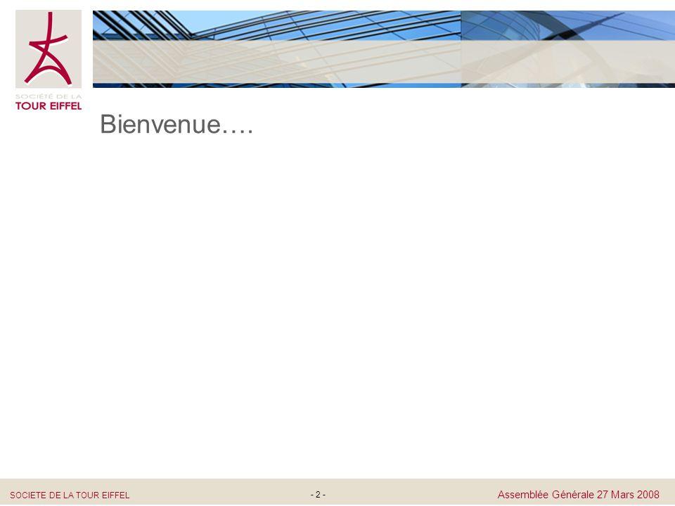 SOCIETE DE LA TOUR EIFFEL Assemblée Générale 27 Mars 2008 - 43 - Résolutions Ordinaires 9 ème Résolution Nomination de Monsieur Marc Allez