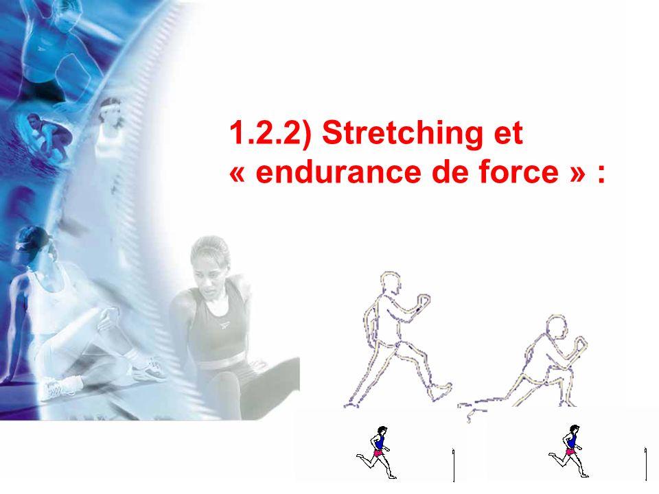 Kokkonen et coll.(2001) montrent quun excès détirements peut réduire la capacité dendurance de force.