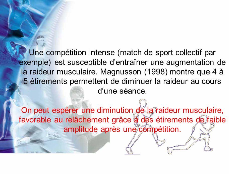 Au niveau neuromusculaire : Les études de Guissard et coll.