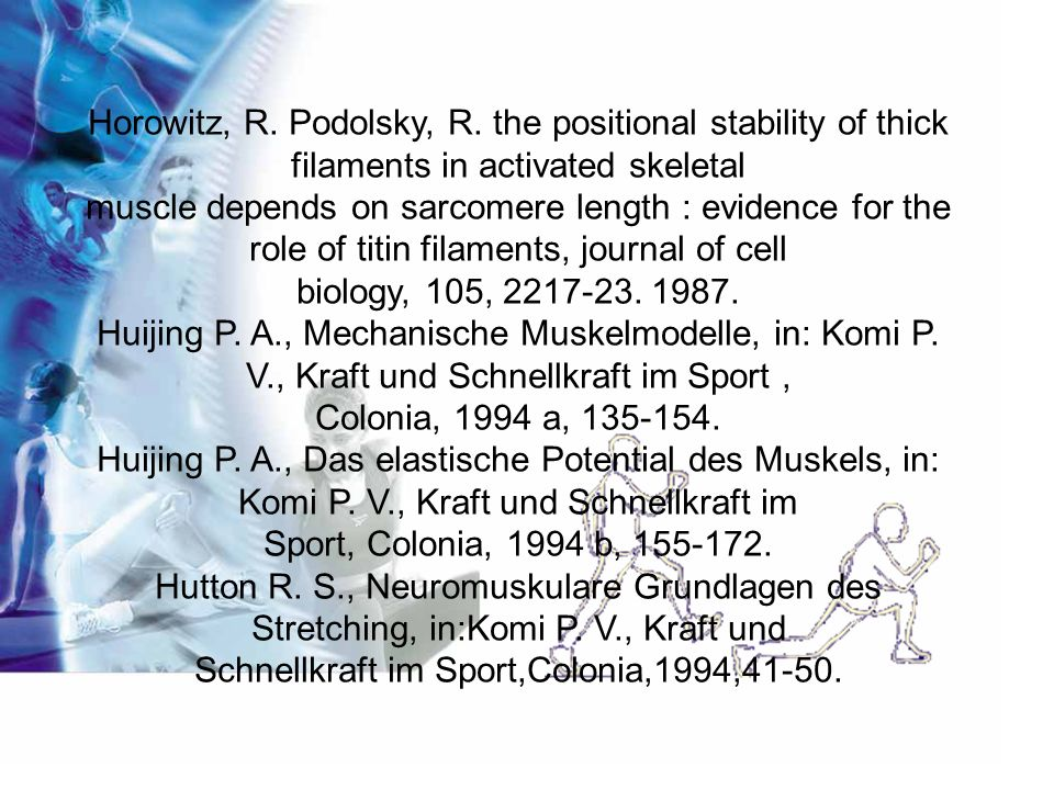 Klee A., Jöllenbeck T., Wiemann K., Biomechanical response to reapeted stretches in human M.