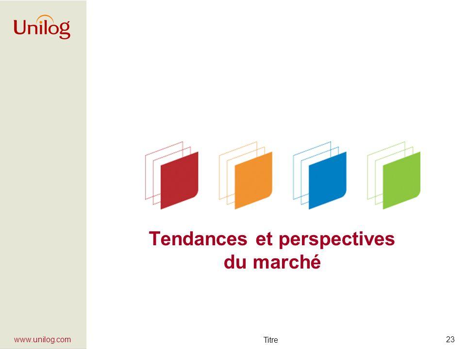 Titre 23 www.unilog.com Tendances et perspectives du marché