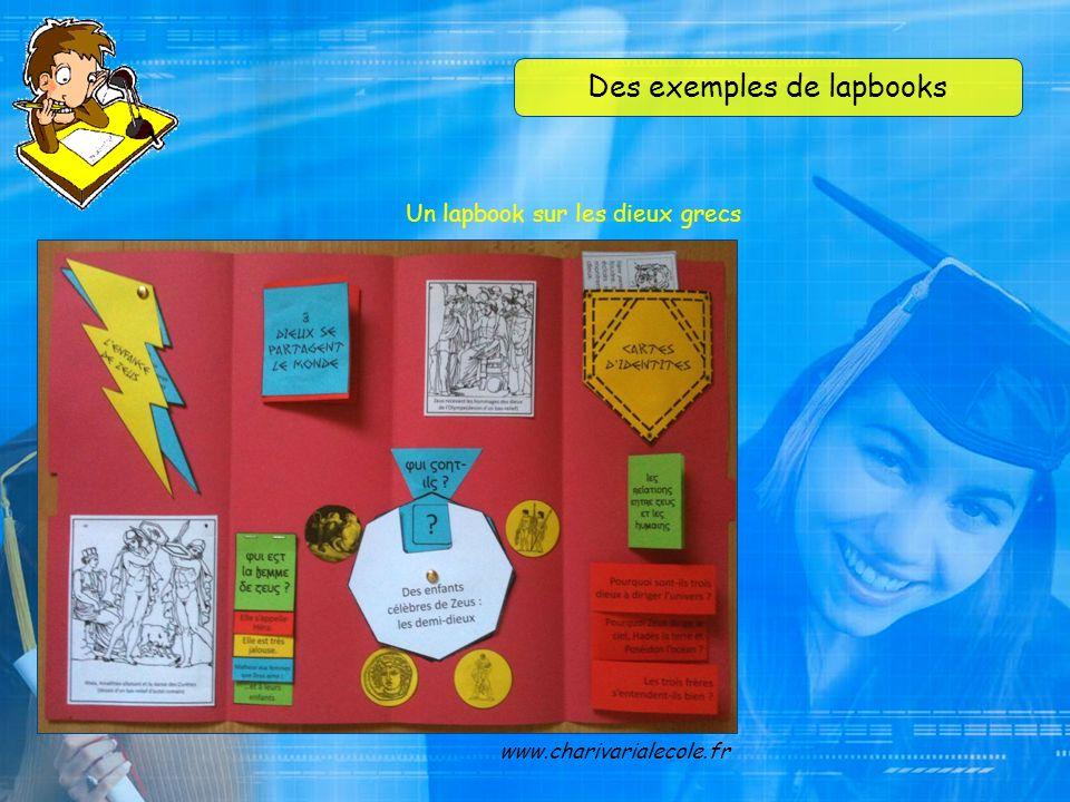 Des exemples de lapbooks www.casimages.com Un lapbook sur lart, en anglais