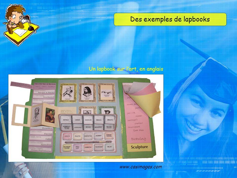 Des exemples de lapbooks www.casimages.com Un lapbook sur le baseball, en espagnol