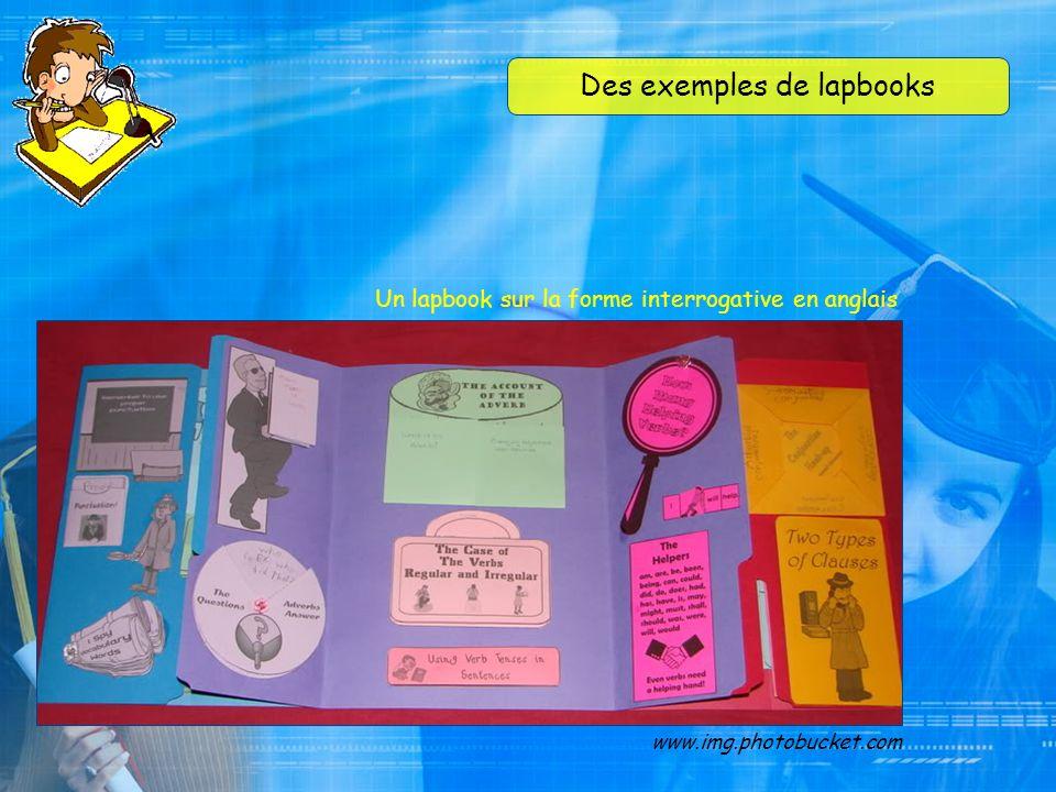Des exemples de lapbooks www.img.photobucket.com Un lapbook sur les plantes, en anglais
