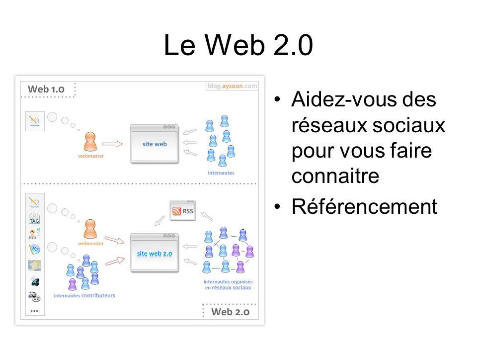 Le Web 2.0 Aidez-vous des réseaux sociaux pour vous faire connaitre Référencement