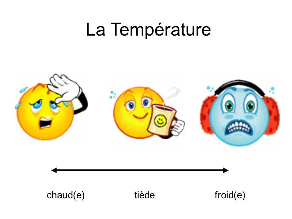 chaud(e)tièdefroid(e) La Température