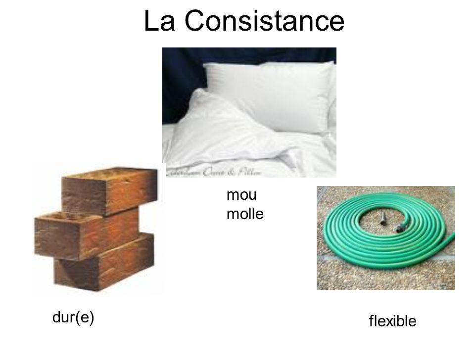La Consistance dur(e) mou molle flexible