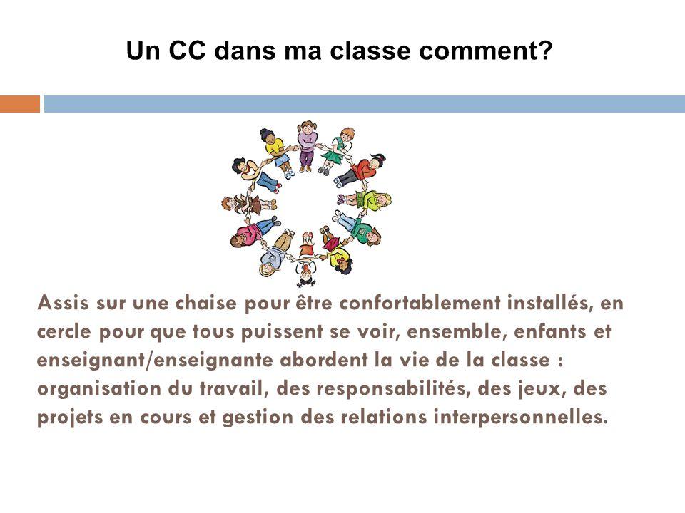 Pourquoi le CC dans ma classe.