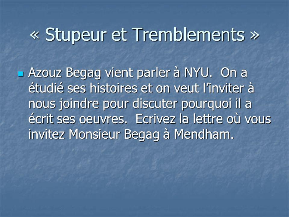 « Stupeur et Tremblements » Azouz Begag vient parler à NYU.