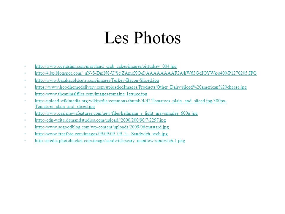 Les Photos http://www.costasinn.com/maryland_crab_cakes/images/pitturkey_004.jpg http://4.bp.blogspot.com/_qN-S-DmN8-U/ScjZAmcXOeI/AAAAAAAAF2A/hW63GdI
